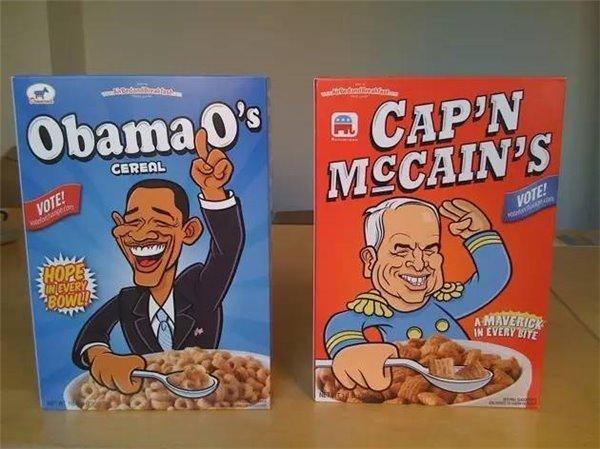 Airbnb 卖的 奥巴马 和 麦凯恩 麦片照片 3
